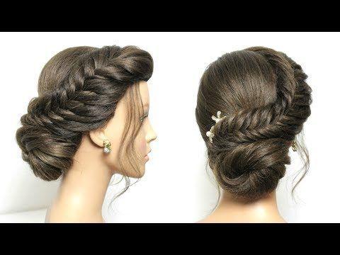 Simple Juda Hairstyle Fishtail Braid Low Bun For Long Hair In 2020 Hair Tutorials For Medium Hair Bun Hairstyles For Long Hair Medium Hair Styles