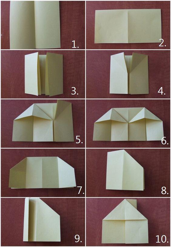 papírházikók hajtogatással