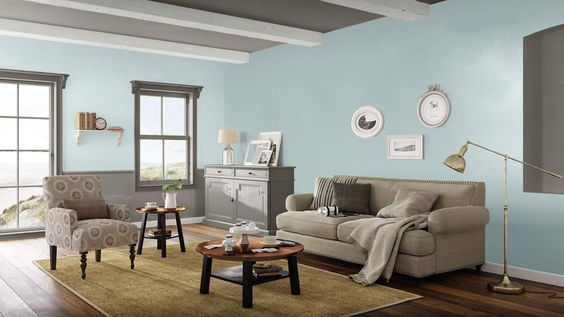 Coastal Cottage living room  #BenjaminMoore #DBWM #DreamDigsSweeps