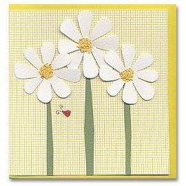 Daisy Bug Hand made Greeting Card by GillianCards.