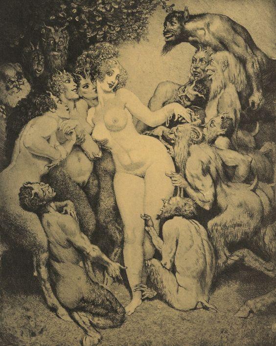 'Venus In Arcady' by Norman Lindsay.  Norman Lindsay Etchings,: