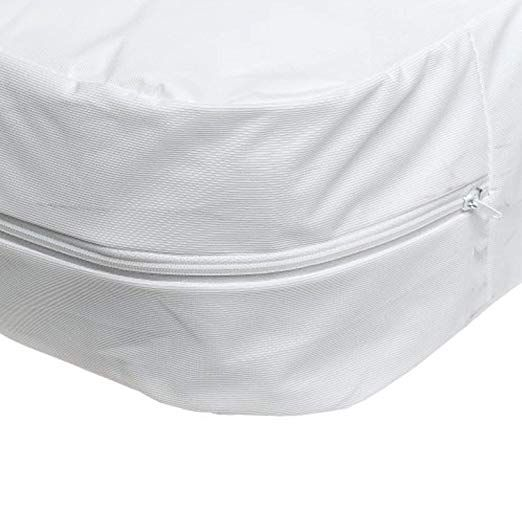 Amazon Com Dmi Zippered Plastic Mattress Cover Protector Waterproof Twin Size White Health Perso Mattress Covers Waterproof Mattress Cover Twin Mattress
