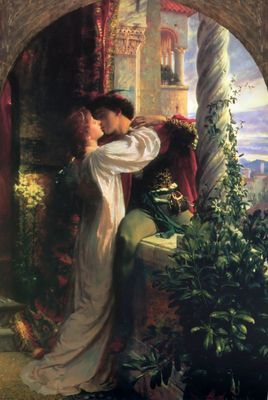 This is what hangs over our bed! Romeo and Juliet...