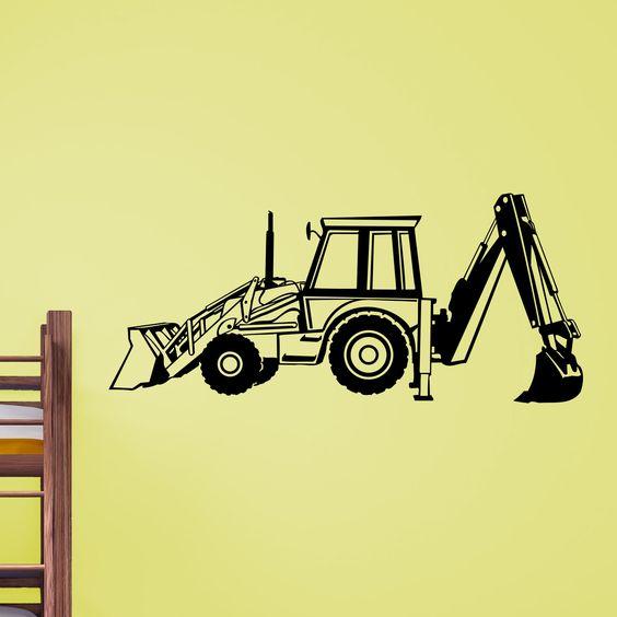 Nice Digger Dumper Truck Wall Sticker