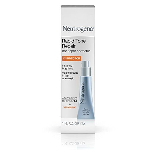 Neutrogena Rapid Tone Repair Dark Spot Corrector with Retinol SA, Vitamin C, and Hyaluronic Acid to Diminish the look of Skin Discoloration and dark Spots, 1 oz