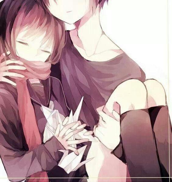cute anime couple cuddling ♥ | cute anime | Pinterest ...