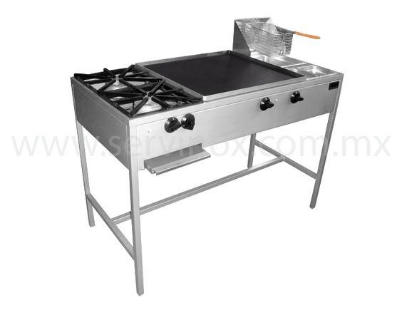 Estufa multiple economica caracteristicas con 2 parrillas - Plancha de cocina para empotrar ...