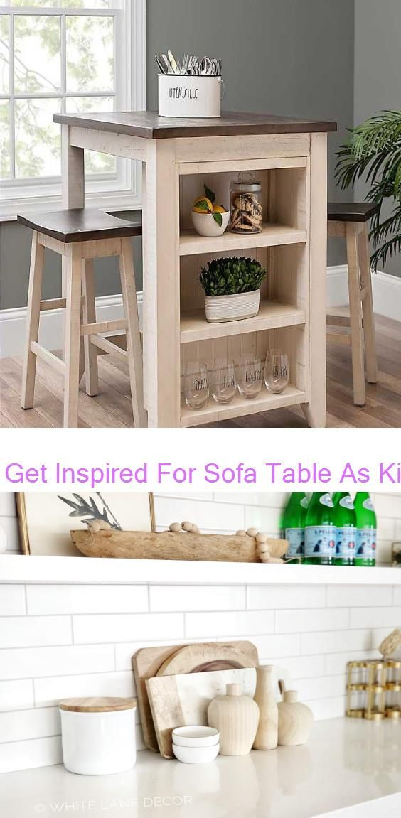 Get Inspired For Sofa Table As Kitchen Island Gold And White Kitchen White Lane Decor In 2020 Sofa Table Decor White Kitchen