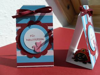 a little chocolate ladybug in a tag box