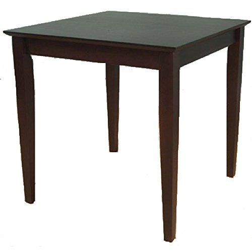 4 Person Dining Table Square Wooden Espresso Brown Small Low