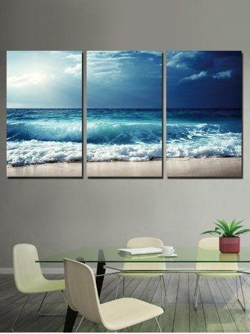 Beach Wave Print Unframed Canvas Paintings Cheap Canvas Wall Art Minimalist Painting Online Wall Art