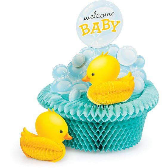 Baby Shower Decoration, Bubble Bath Honeycomb Centerpieces-Napkins.com. Price: $16.95 - Rubber ducky baby shower