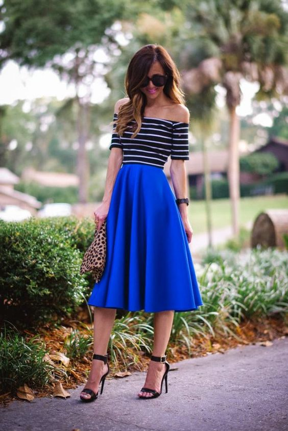 Yes! Well, maybe not so shoulder-exposing (scandalous!), but I LOVE the skirt!