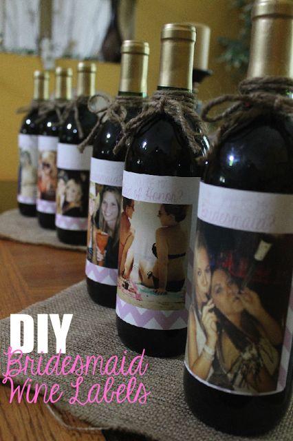 "DIY ""Will you be my Bridesmaid?"" Wine Labels! - Corin Bakes Blog"