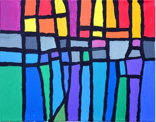 stained Glass on Canvas