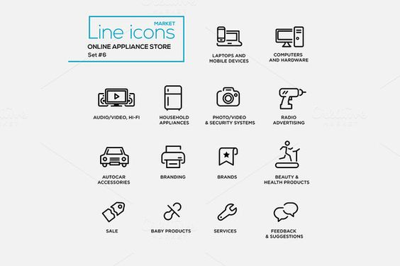 Online Appliance Store - Pictograms @creativework247
