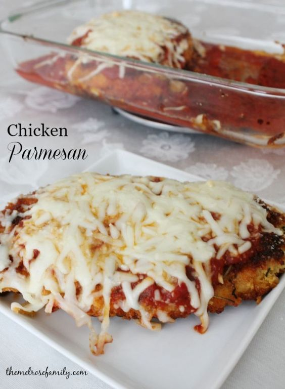 The crispiest Chicken Parmesan that you'll ever eat is the perfect weeknight dinner idea.  #ad