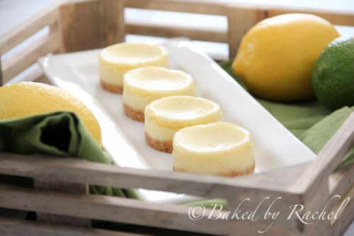 mini lemon-lime cheesecakes