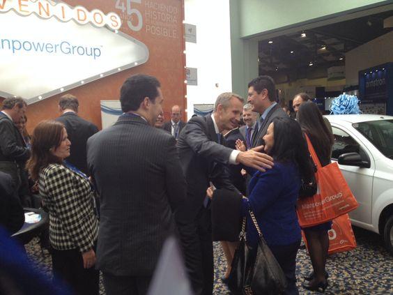 Jonas Prising CEO de ManpowerGroup presente en el evento de AMEDIRH
