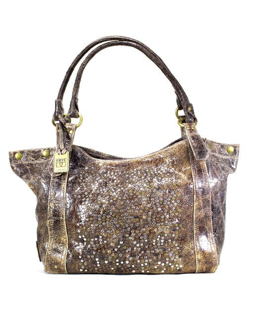 Distressed Leather + Glitter makes the perfect vintage handbag | Country Outfitter