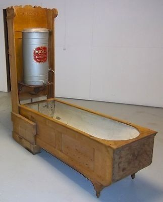 Antique Mosely Folding Bath Tub The Old Days Pinterest
