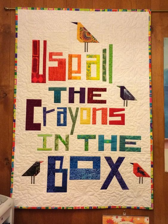 Use All The Crayons in the Box quilt:
