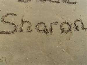 Sharon in the sand