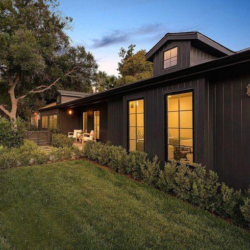 Black Home Exterior Ideas And Inspiration Hunker In 2020 Black House Exterior House Styles House Exterior