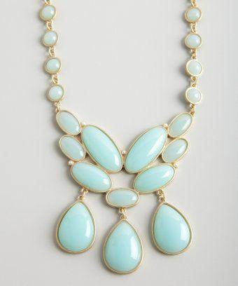 gold and mint stone bib necklace / Danielle Stevens // Belle & Clive