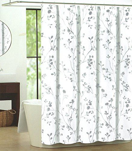 Curtains Ideas botanical shower curtain : Botanical Nature Cotton Shower Curtain Floral Branches Design ...
