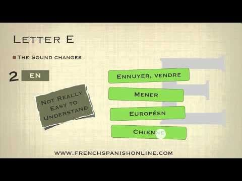 How to Pronounce the letter E in French