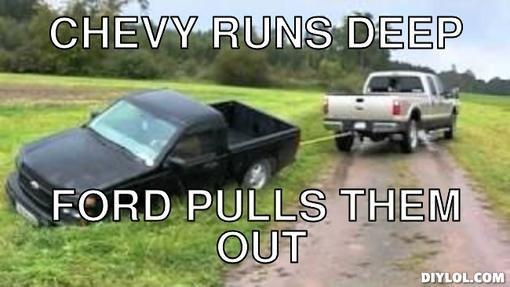 Ford Vs Chevy Cartoon Jokes Meme