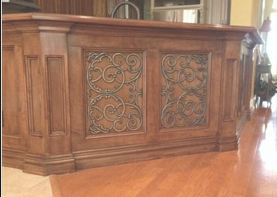 Doors cabinets and kitchen cabinets on pinterest - Wrought iron kitchen cabinet door inserts ...