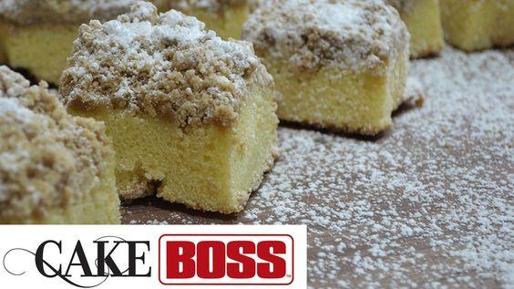 Famoso Crumb Cake do Cake Boss - Buddy Valastro   Americana   Receitas Gshow