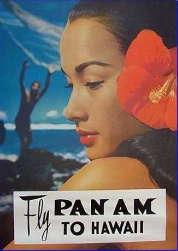 Pan Am poster, Hawaii