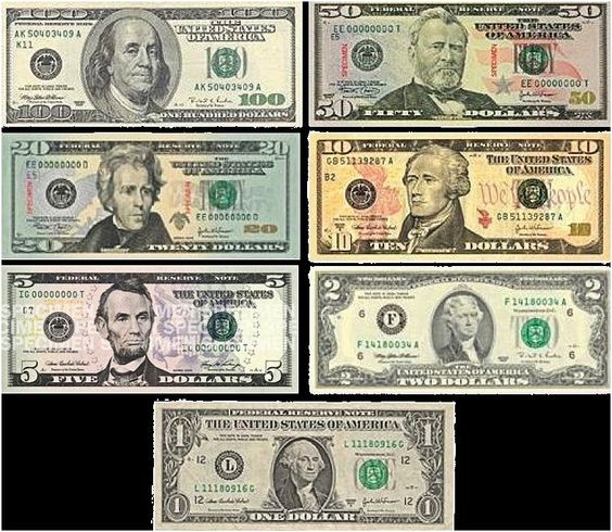 coins and bills in circulation