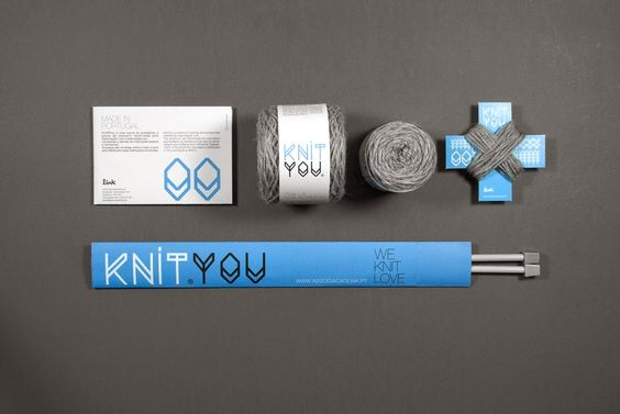 Las Teje y Maneje: KNIT YOU, PACKAGING FOR A NON-PROFIT PROJECT