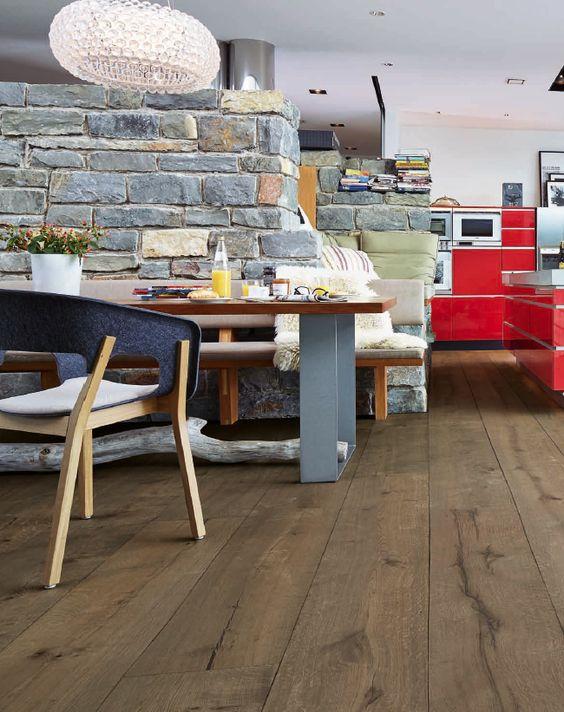 Lindura-Holzboden HD 300 Eiche rustikal lehmgrau 8411 - gebrauchte küchen in essen