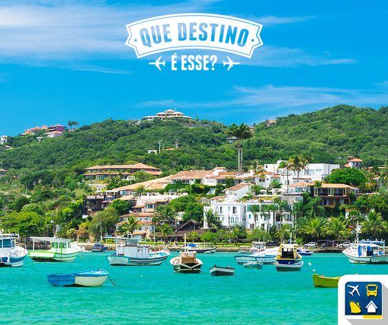 E nós queremos saber: que destino é esse?  DICA: Uma das mais procuradas praias brasileiras, ficou famosa após a visita da atriz francesa Brigitte Bardot nos anos 70.  E aí, alguém sabe o nome deste paraíso? Deixe o seu palpite nos comentários - RESP - Buzios