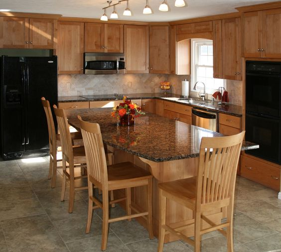 Islands Kitchens And Cabinets On Pinterest