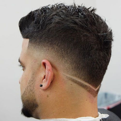 Messy Short Hair Low Burst Fade V Shape Neckline Haircuts For Men Fade Haircut Mens Haircuts Short