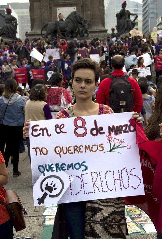 así se vivió la marcha del día internacional de la mujer en méxico | look | i-D