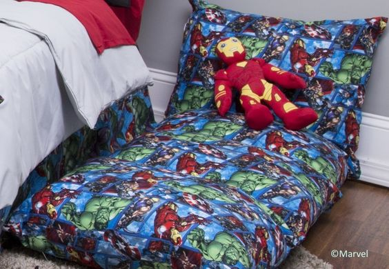 Free DIY Sew it Yourself Superhero Floor Pillow Sewing Pattern: