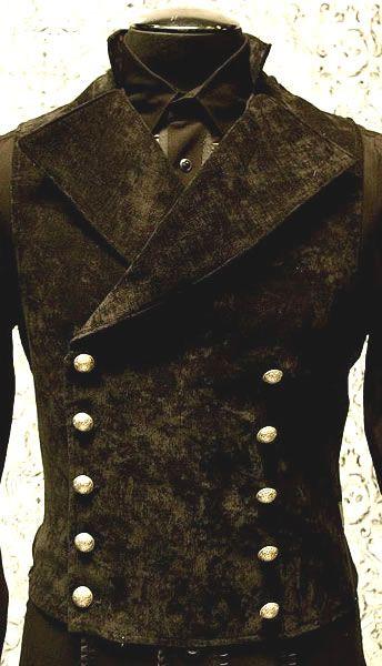 Mens Cavalier Vest by Shrine Clothing Gothic Dresses