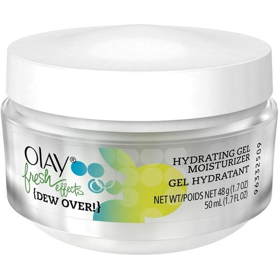 Olay Fresh Effects {Dew Over!} Hydrating Gel Moisturizer - 1 oz ($13) ❤ liked on Polyvore featuring beauty products, skincare, face care, facial moisturizers and skin care