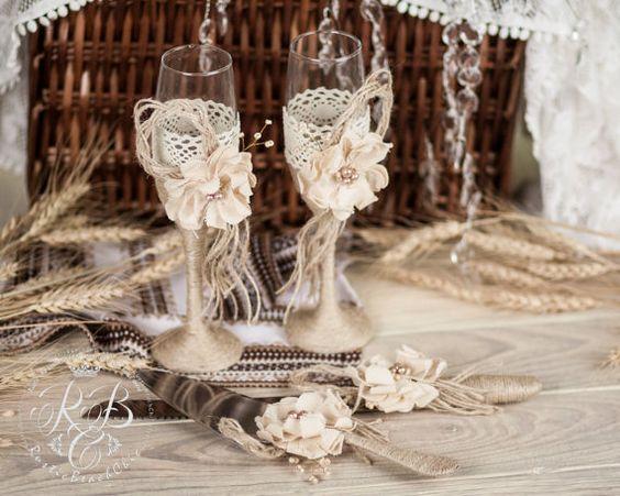 Velas de unidad rústico Chic rústico de boda / por RusticBeachChic