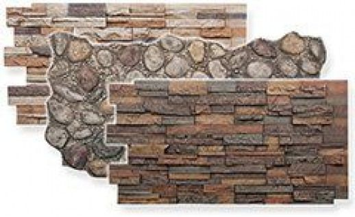 Fake Stone Paneling Creates The Look Of Rugged River Rock In Realistic Colors That Work For Almost Every Room Mobil Faux Stone Panels Faux Panels Stone Panels