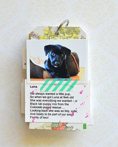 """Luna"" using #CratePaper  Love the washi tape"