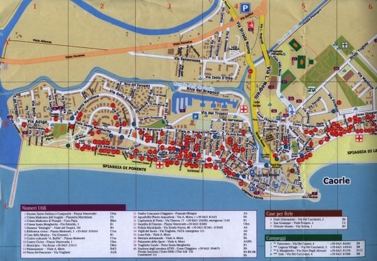 Caorle Turismo Map 2017 Italy Travel Brochure Caorle Italien