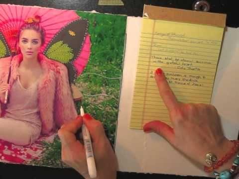 ♥ #lovesummerart - Eternal Summer collage journal page